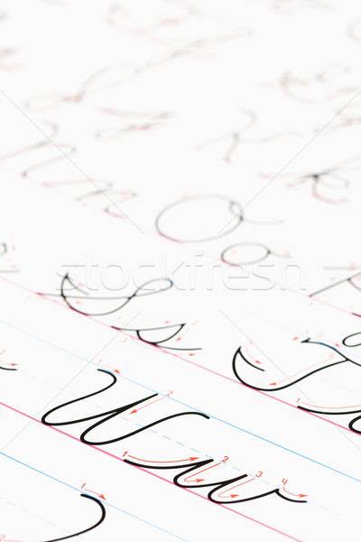 Cursive writing practice. Stock photo © iofoto