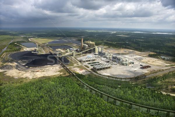 石炭 送料 工場 ミシシッピー州 眼 ストックフォト © iofoto