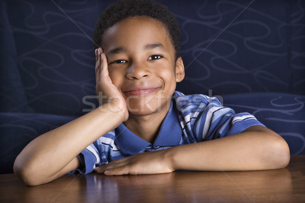Portrait of Smiling Young Boy Stock photo © iofoto