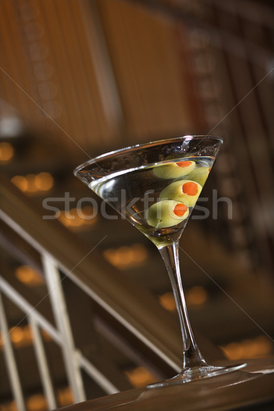 Martini aceitunas beber color alcohol cócteles Foto stock © iofoto
