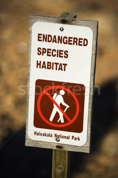 Endangered species habitat sign. Stock photo © iofoto