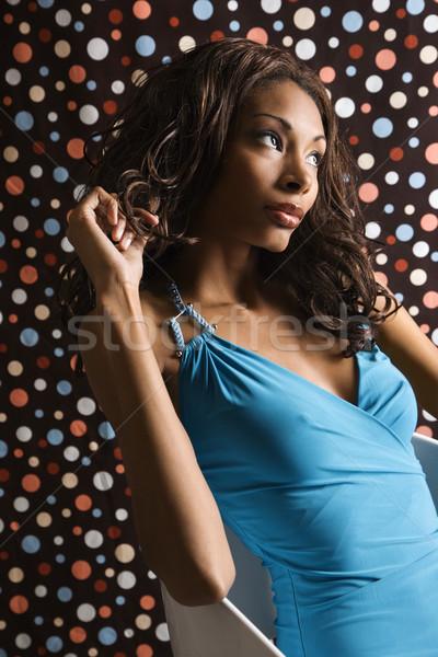 Femme à pois Homme portrait Photo stock © iofoto