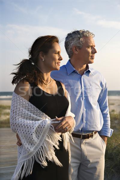 Couple at beach. Stock photo © iofoto