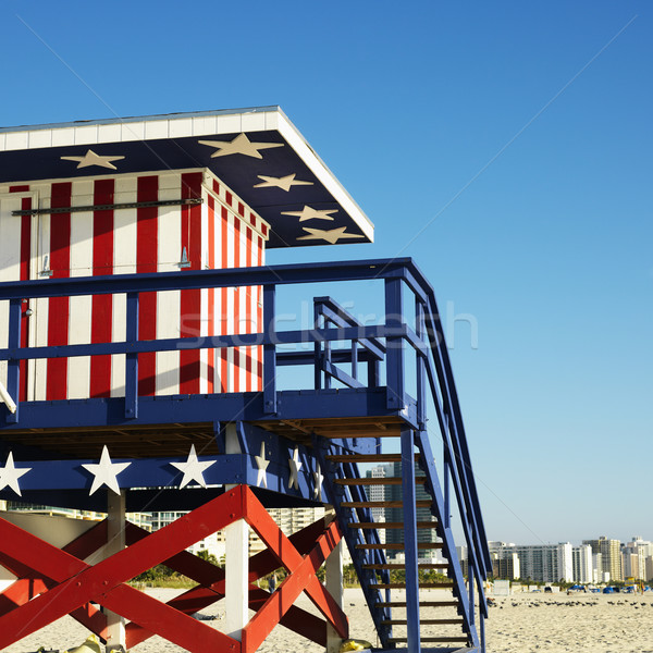 Americana lifeguard tower. Stock photo © iofoto