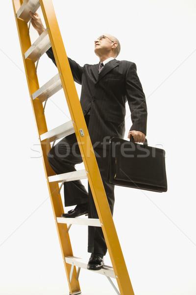 ストックフォト: ビジネスマン · 登山 · はしご · 白人