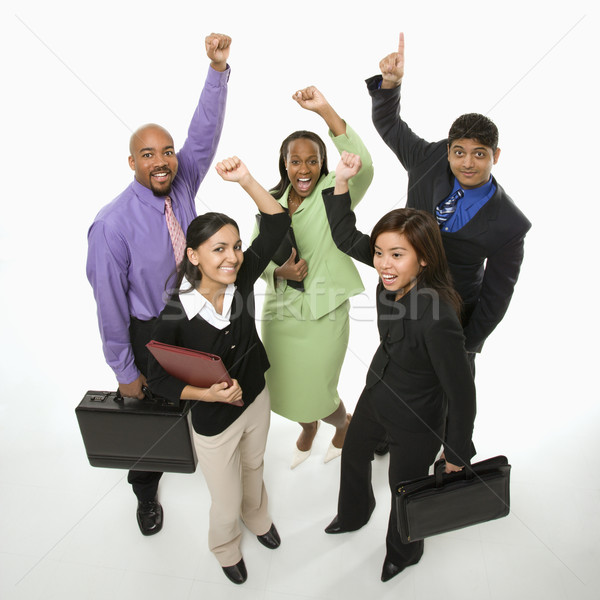 Winning business team. Stock photo © iofoto