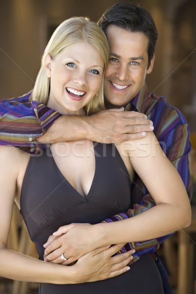 Caucasian couple smiling. Stock photo © iofoto
