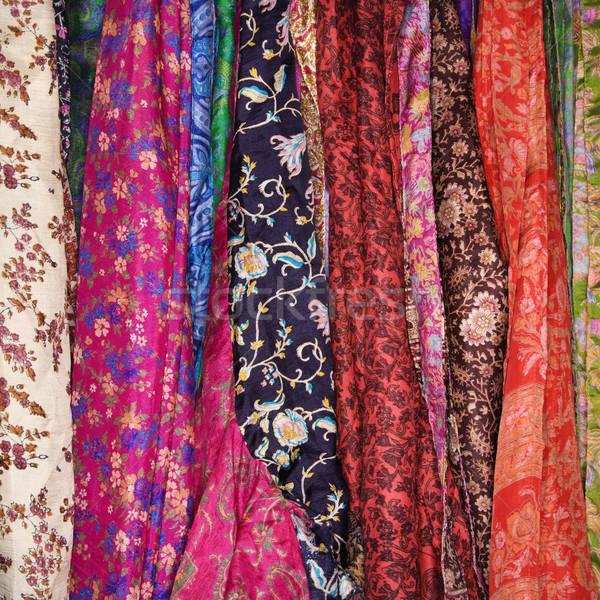 Colorido tejido mexicano colgante rack cuadrados Foto stock © iofoto