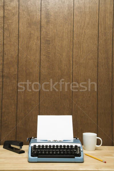 Typewriter on desk. Stock photo © iofoto