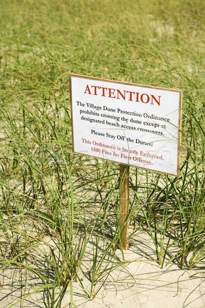 Environmental warning sign. Stock photo © iofoto