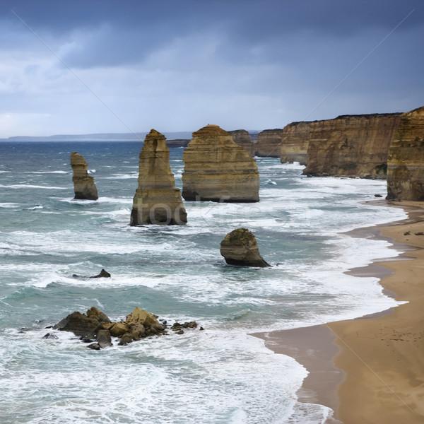 Kaya okyanus oniki kaya oluşumu muhteşem Stok fotoğraf © iofoto