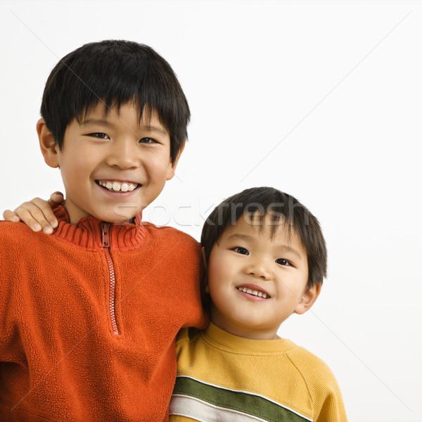 азиатских братья портрет молодые оружия вокруг Сток-фото © iofoto