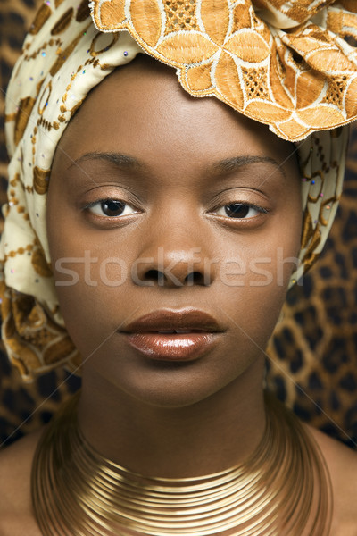 Close-up of Young African American Woman in Traditional African Dress Stock photo © iofoto