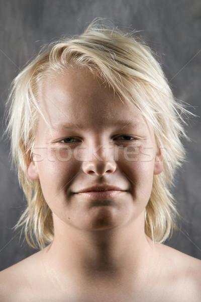 Male Caucasian adolescent portrait. Stock photo © iofoto