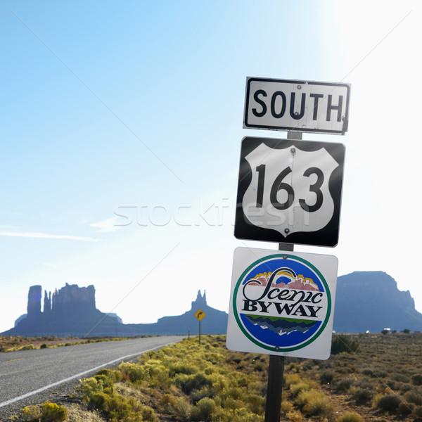 風光明媚な にログイン ユタ州 南 道路 ストックフォト © iofoto