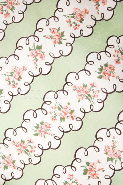 Stok fotoğraf: Bağbozumu · kumaş · detay · pembe · çiçekler