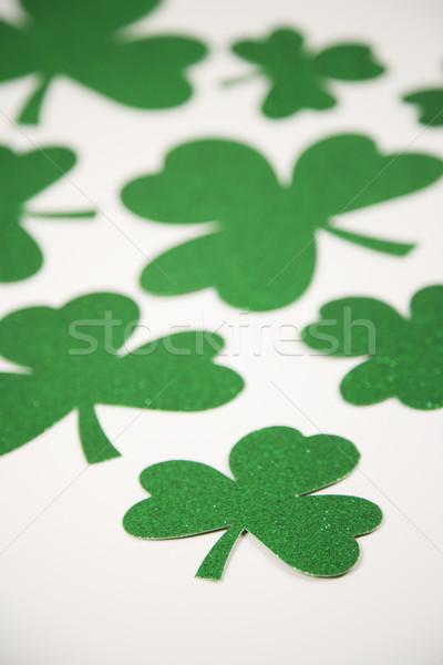 Green glitter shamrocks. Stock photo © iofoto