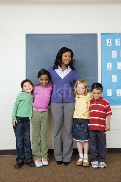 Teacher with Students Stock photo © iofoto