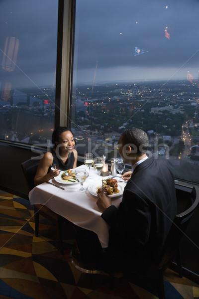 Couple having dinner. Stock photo © iofoto