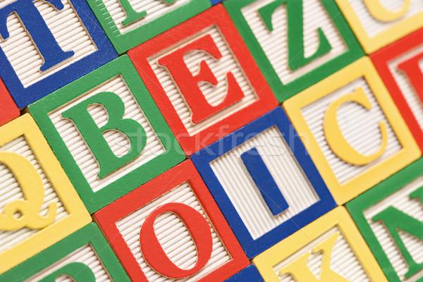 Stock fotó: Kockák · ábécé · épület · játékok · csoport · levél