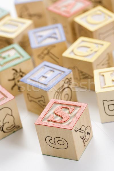ábécé építőkockák épület oktatás csoport levél Stock fotó © iofoto