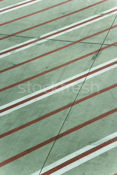 линия конкретные красный белый ВПП Мельбурн Сток-фото © iofoto