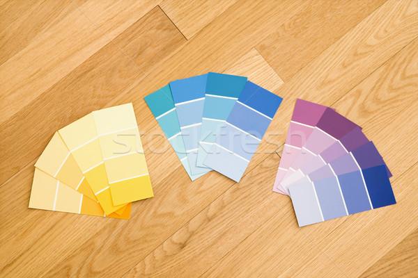 Paint color swatches. Stock photo © iofoto
