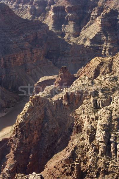 Colorado rivier antenne zuidwest woestijn canyon Stockfoto © iofoto
