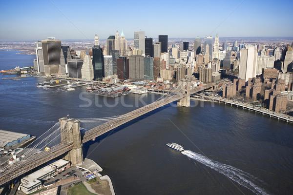 Brooklyn Bridge, NYC. Stock photo © iofoto