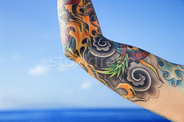 Сток-фото: руки · женщину · океана · Гавайи