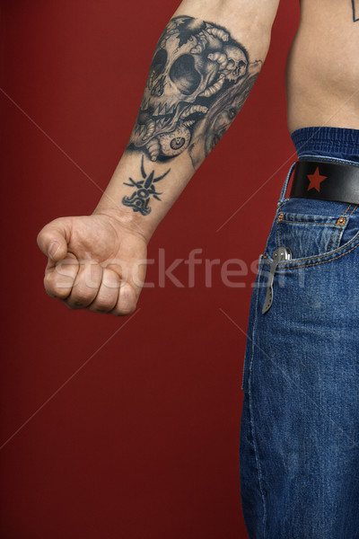 Adult male arm with tattoo. Stock photo © iofoto