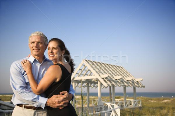 Portrait of Couple on Beach Stock photo © iofoto