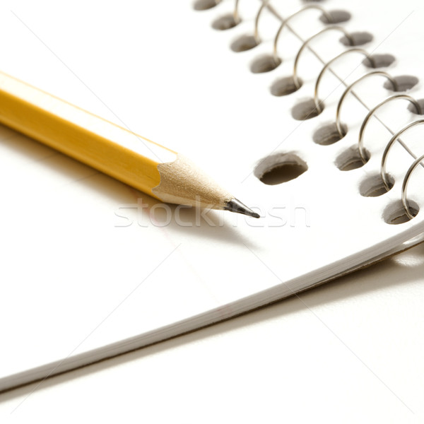 Pencil and notebook. Stock photo © iofoto