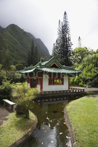 Streamm leading to pagoda. Stock photo © iofoto
