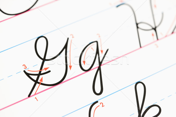 Cursive handwriting. Stock photo © iofoto