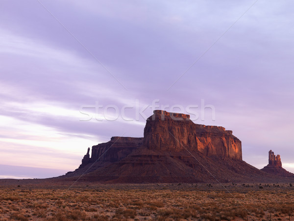 Mesa in Monument Valley at Dusk Stock photo © iofoto