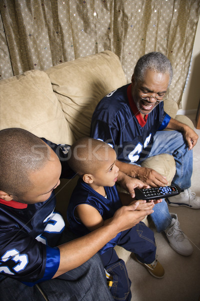 Family watching sports. Stock photo © iofoto