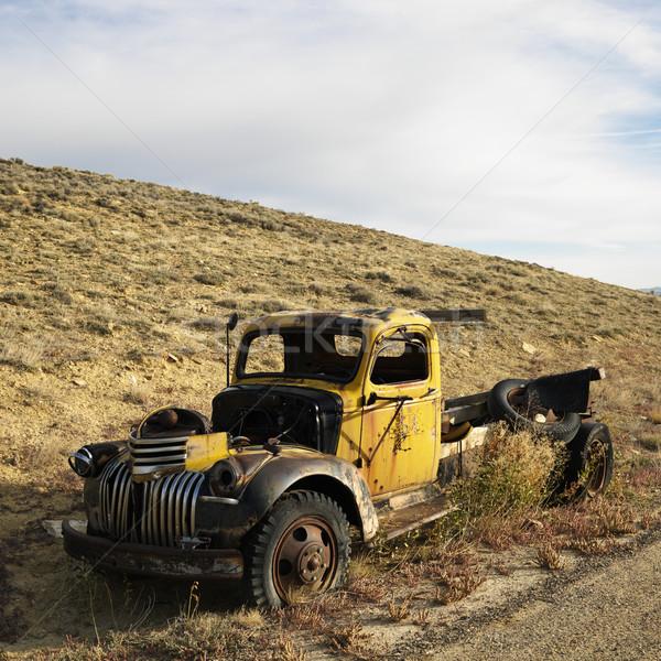 Junk pickup truck. Stock photo © iofoto