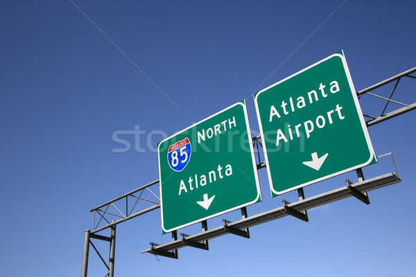 Atlanta snelweg borden luchthaven horizontaal Stockfoto © iofoto