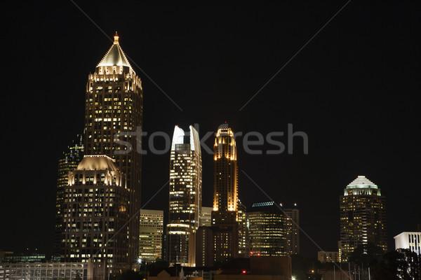 Атланте Грузия Skyline город ночь фары Сток-фото © iofoto