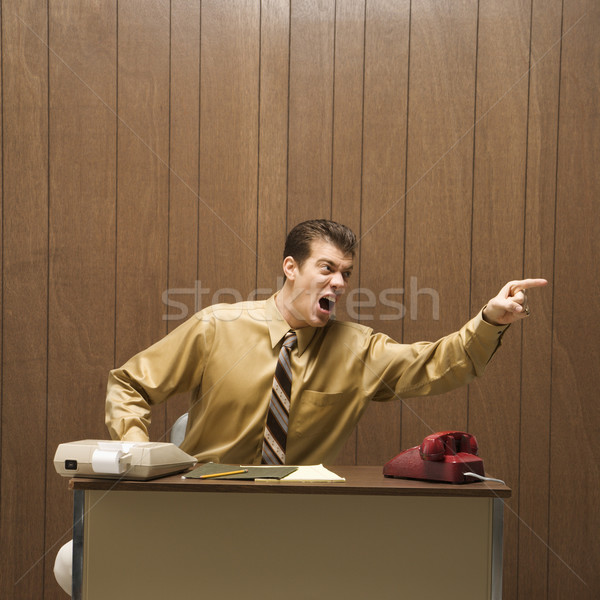 Businessman screaming. Stock photo © iofoto