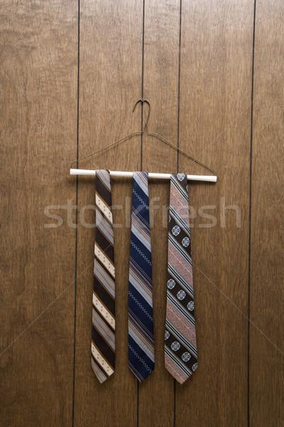 Retro ties on hanger. Stock photo © iofoto