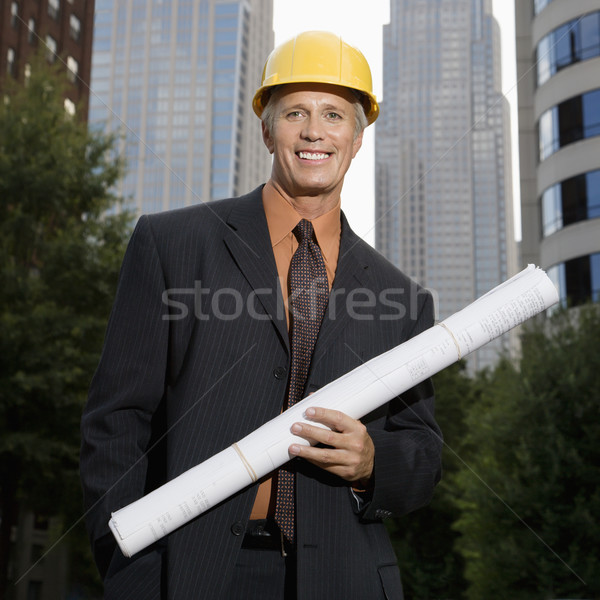 Construction supervisor. Stock photo © iofoto