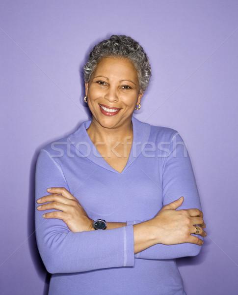 Portrait of smiling woman. Stock photo © iofoto