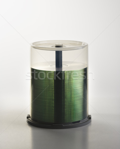 Stack of compact discs in case. Stock photo © iofoto