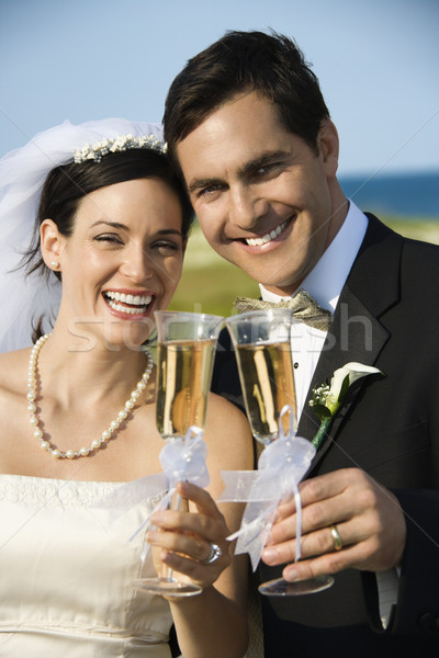 Bride and groom toasting. Stock photo © iofoto