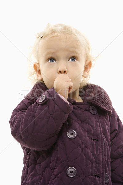 Toddler sucking thumb. Stock photo © iofoto
