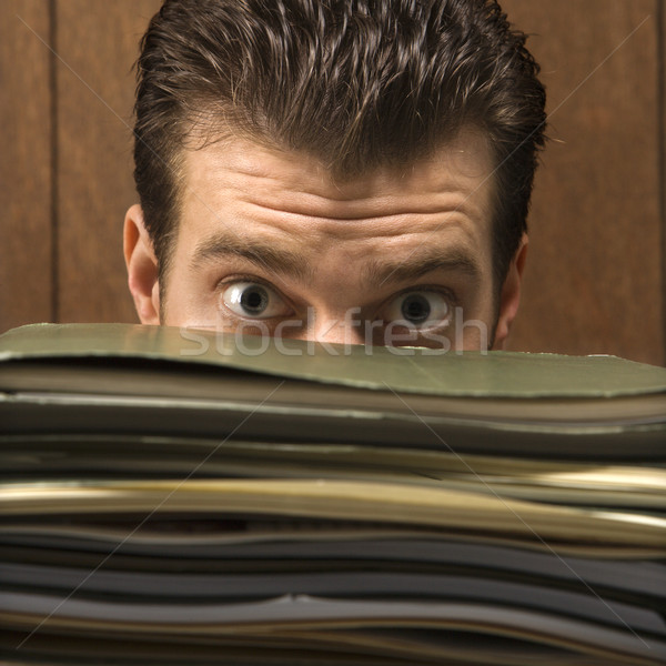 Man with files. Stock photo © iofoto