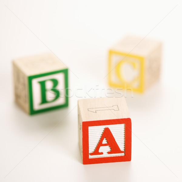 Speelgoed blokken alfabet brief speelgoed leren Stockfoto © iofoto
