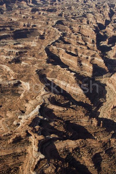 Desert canyon aerial. Stock photo © iofoto
